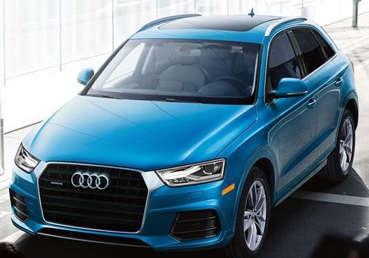 Blue Audi Q3