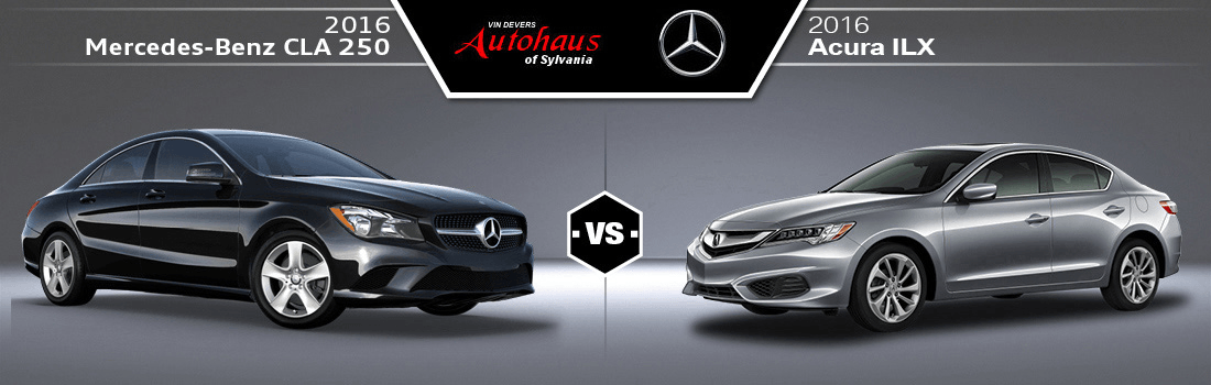 2016 Mercedes-Benz CLA250 vs 2016 Acura ILX