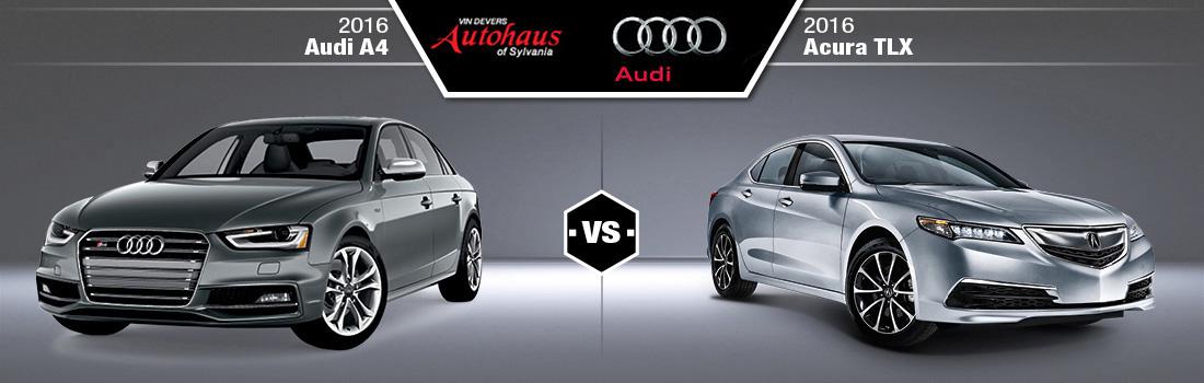 2016 Audi A4 vs. 2016 Acura TLX