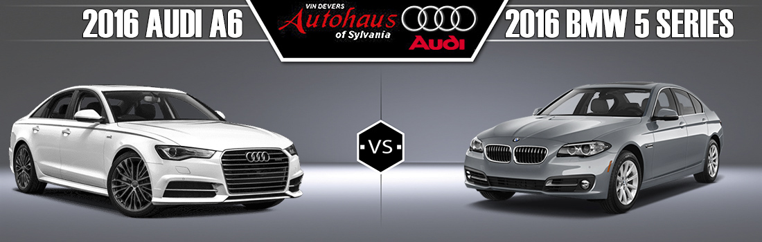 2016 Audi A6 vs. 2016 BMW 5-Series
