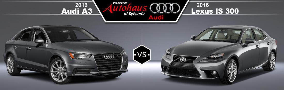 2016 Audi A3 vs. 2016 Lexus LS300