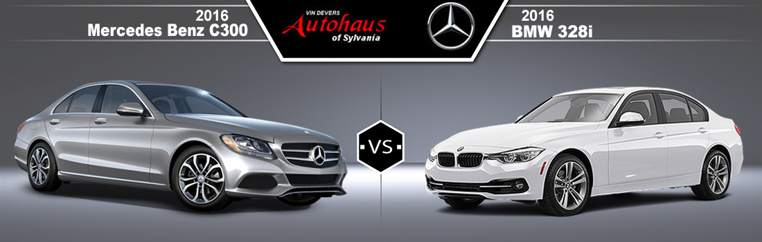 2016 Mercedes-Benz C300 vs 2016 BMW 328i
