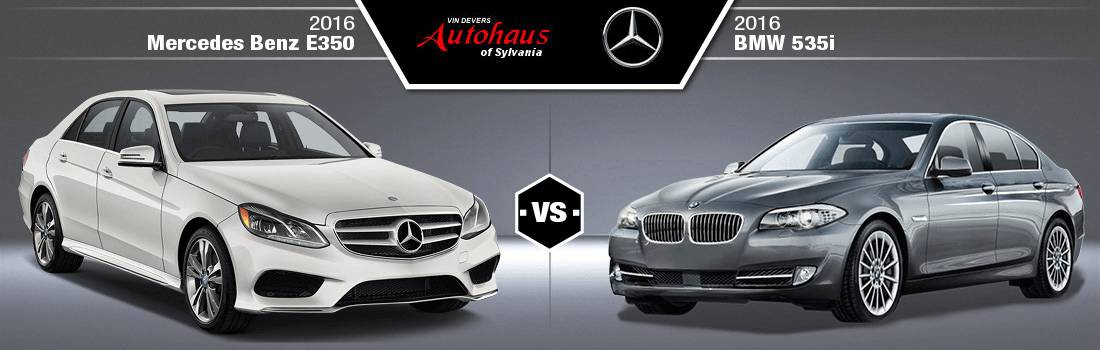 2016 Mercedes-Benz E350 vs. 2016 BMW 535i