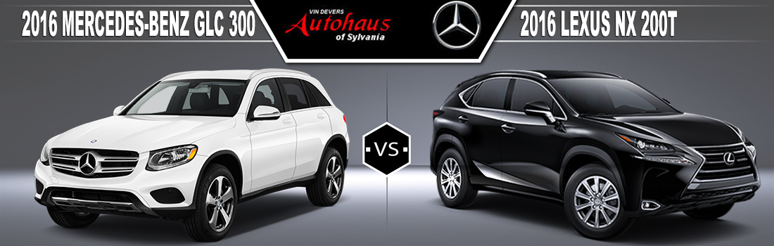2016 Mercedes-Benz GLC300 vs. 2016 Lexus NX 200t