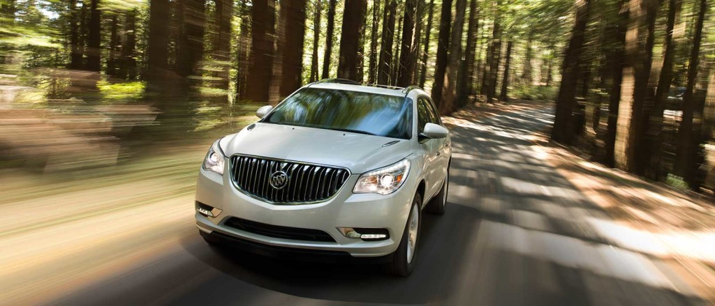 2017 Buick Enclave in the forest