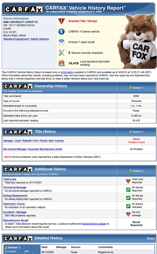 CARFAX 1-Owner Sale: What is CARFAX?